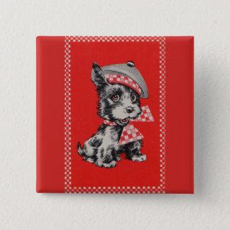 1950s Scottie dog in red Button