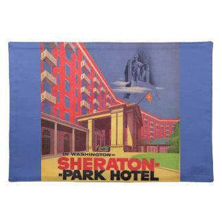 1950s Sheraton Park Hotel - Washington, DC ad Placemat