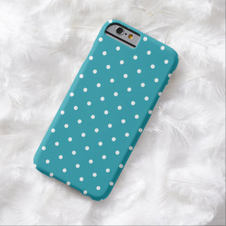 1950s Style Aqua Blue Polka Dot iPhone 6 Case