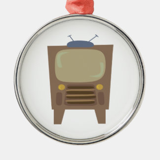 1950's Style Vintage TV Metal Ornament