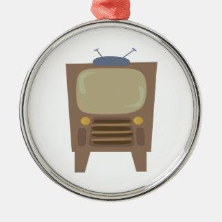 1950's Style Vintage TV Metal Ornament