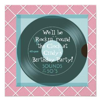 1950's Theme Birthday Party Invitations