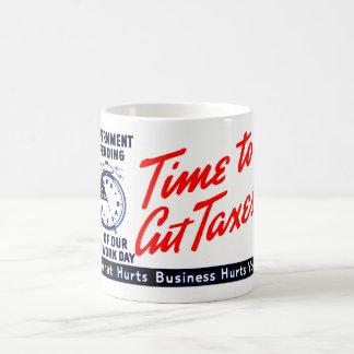 1950s Time to Cut Taxes Coffee Mug