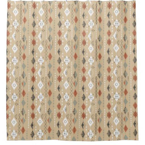 Retro Kitchen Curtains 1950s: 1950s Vintage Atomic Design Shower Curtain