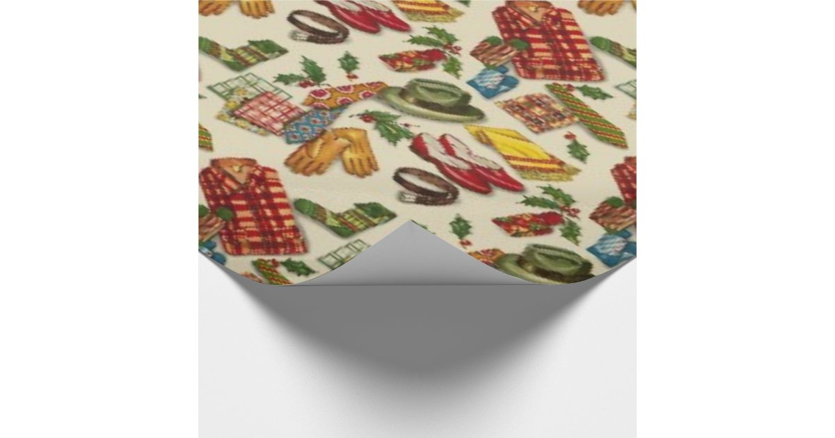 1950s Vintage Christmas Wrapping Paper Zazzle Com