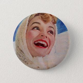 1950s vivacious cold weather beauty button