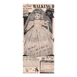 1950's Walking Doll Hollywood Bride Rack Card