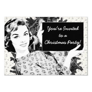 1950s Woman with a Christmas Sign V2 Card