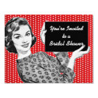 1950s Woman with a Sign Bridal Shower Card
