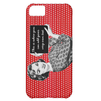 1950s Woman with a Sign iPhone 5C Case