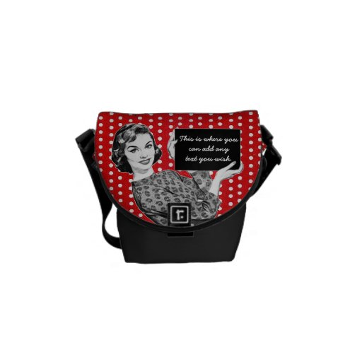 1950s Woman with a Sign Messenger Bags