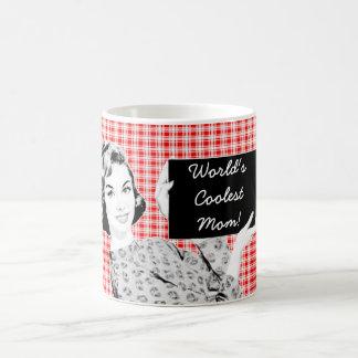 1950s Woman with a Sign V2 Mom Classic White Coffee Mug