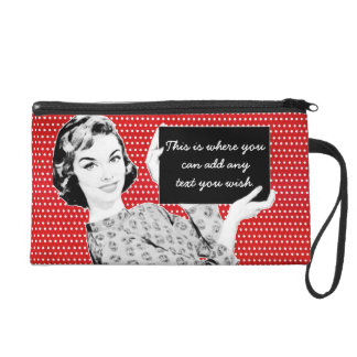1950s Woman with a Sign Wristlet