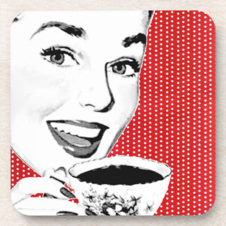 1950s Woman with a Teacup Coaster