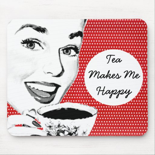 1950s Woman with a Teacup Mousepad