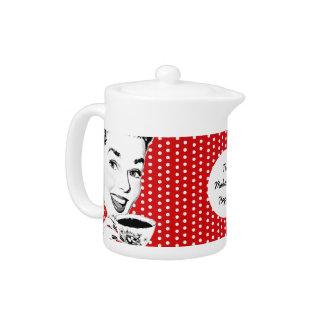 1950s Woman with a Teacup Teapot