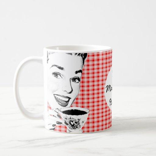 1950s Woman with a Teacup V2 Classic White Coffee Mug