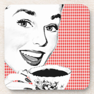 1950s Woman with a Teacup V2 Drink Coaster