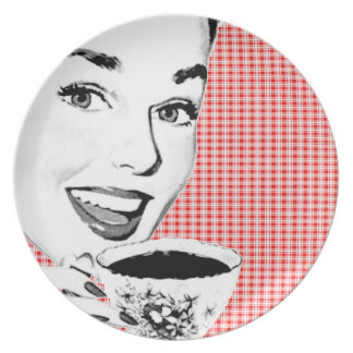 1950s Woman with a Teacup V2 Plate