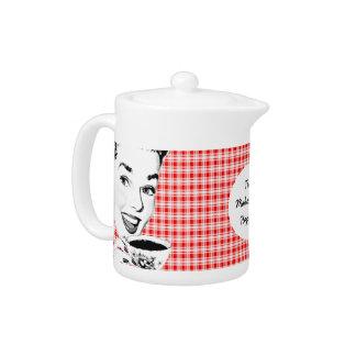 1950s Woman with a Teacup V2 Teapot