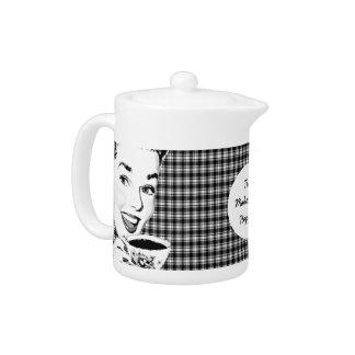 1950s Woman with a Teacup V3 Teapot