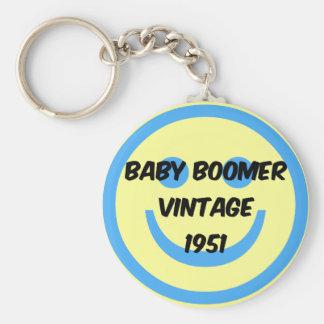 1951 baby boomer keychain