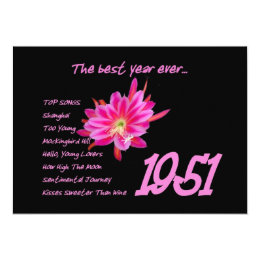 Born in 1951 cards greeting photo cards zazzle 1951 birth year hit songs birthday party card bookmarktalkfo Gallery