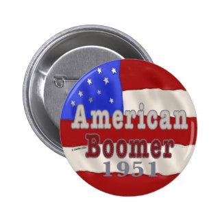 1951 Birthday Baby Boomer Pin