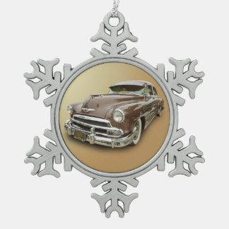 1951 CHEVROLET SNOWFLAKE PEWTER CHRISTMAS ORNAMENT