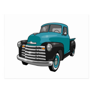 1951 Chevrolet Stepside Pickup Truck Postcard