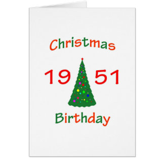 1951 Christmas Birthday Card