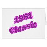 1951 Classic Purple Greeting Card
