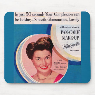 1951 Esther Williams make-up ad Mouse Pad