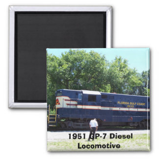 1951 GP-7 Diesel Locomotive Magnet