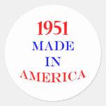 1951 hizo en América Pegatinas Redondas