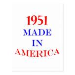 1951 hizo en América Postales