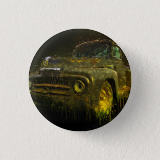 1951 International Pickup Art Pinback Button