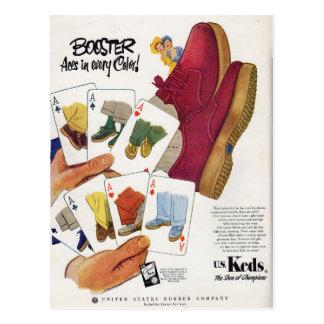 1951 Keds ad Postcard