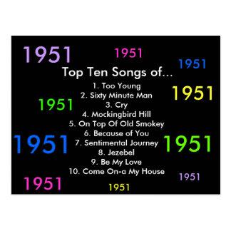 1951 Songs Postcard
