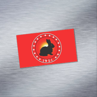 1951 Year of the Rabbit Magnetic Business Card