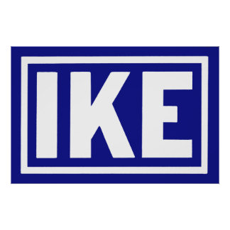 1952 Blue Ike Poster
