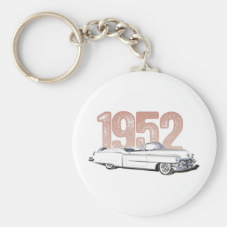 1952 Cadillac Coupe De Ville, white convertible Keychain