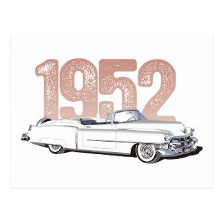 1952 Cadillac Coupe De Ville, white convertible Postcard