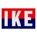 1952 Ike For President Poster at Zazzle