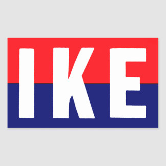 1952 Ike for President Rectangle Stickers