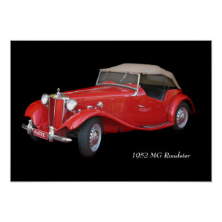 1952 MG Roadster Poster
