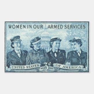 1952 mujeres en fuerzas armadas de los E.E.U.U. Pegatina Rectangular