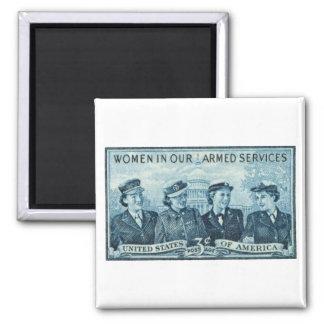 1952 mujeres en sello de las fuerzas armadas de lo imán cuadrado
