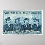1952 mujeres en sello de las fuerzas armadas de lo poster