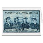 1952 mujeres en sello de las fuerzas armadas de lo felicitaciones